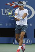 Twelve times Grand Slam champion Rafael Nadal during semifinal match at US Open 2013 against Richard