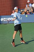 Professional tennis player Tommy Haas during first round singles match at US Open 2013