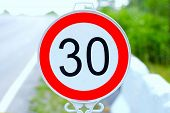 SPEED LIMIT TRAFFIC SUGN 30 KM/H