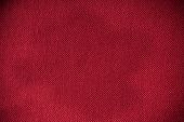 Closeup Of Red Fabric Textile Material As Texture Or Background