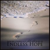 beautiful Inspirational typographic quote - endless hope