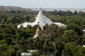 The View From The Top Of The Pagoda Looks Out On Mya Theindan Pagoda.