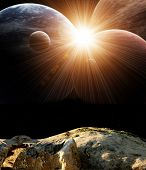 Beautiful majestic space. Elements of this image furnished by NASA