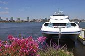 Ferry Moored Near Long Beach California.