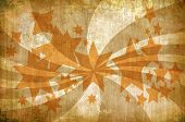 Abstract Vintage Grunge Background With Stars And Rays