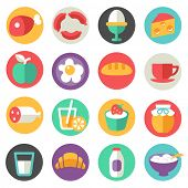 dairy products, food icons