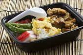 Chicken Toriyaki Rice In Plastic Box