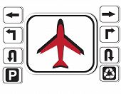 Icon symbol  airplane