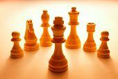 Wooden White Chess Pieces Set