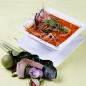 Tom Yam Kung , Sour And Spicy Of Shrimp Soup
