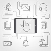 Application And Devices Infographics With Icons