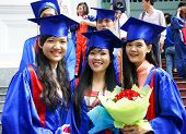 Student In Gown, University Graduate Ceremony