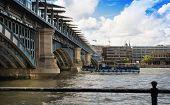 LONDON, UK - AUGUST 9, 2014: Guard Steel of the London bridge