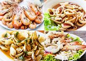 Collage Of Thai Seafood