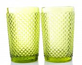 Green glass isolated on white