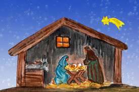 picture of magi  - Nightly christmas scenery - JPG