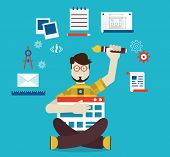 pic of multitasking  - Designer and work - JPG