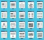 Vector Set Of Responsive Mapsites  For Design. Flowcharts And Structures Of Websites