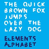 Inividual Alphabet Characters Of A Custom Font - Elements Uppercase Bold