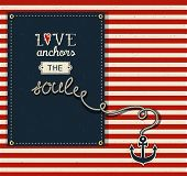 stock photo of soul  - Love Anchors the Soul  - JPG