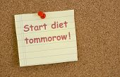 Start Diet Tommorow