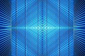 Metal Structure In Blue Light