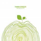 Green Eco Friendly Hand Drawing Bottom Decor