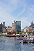 Canal Barges In Liverpool's Albert Dock