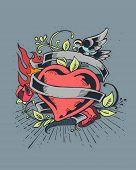 Heart on fire d