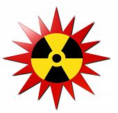 Radioactive sign (With Red Explosion)