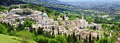 panorama of Assisi - religious center of medieval Umbria, Italy