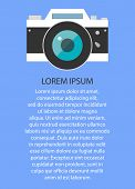 Retro and vintage camera ,graphic design. Vector illustration EPS10