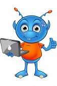 Light Blue Alien Character