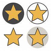 Star Shape Success Superstar Victory Winning  Concept