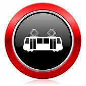 tram icon public transport sign
