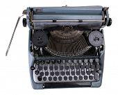 foto of typewriter  - Antique Typewriter - JPG