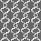 Braided paper stripes seamless vector background.