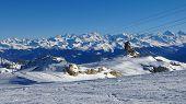 Ski Lift And Mountain Panorama
