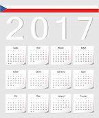 Czech 2017 Calendar