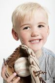 Youth With Baseball In Glove