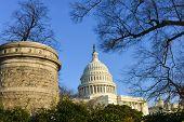 Capitol Building in winter - Washington DC, USA