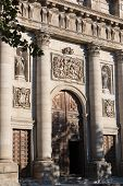 Toledo Cathedral Entrance, Medieval City Of Toledo, Spain