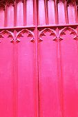 Wooden Red Church Door Close Up Background