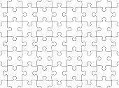 Jigsaw puzzle seamless background