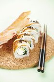 sushi with cheese and parsley