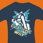 Extreme Way - Vector Print For Sweatshirt
