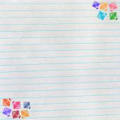 Kites On Notebook Paper, Makar Sankranti Concept