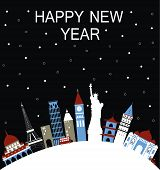 New Year Travel Background.