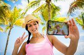Tropical Summer Vacation Selfie