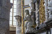 Interiors of Saint Nicholas' Church, Ghent, Belgium